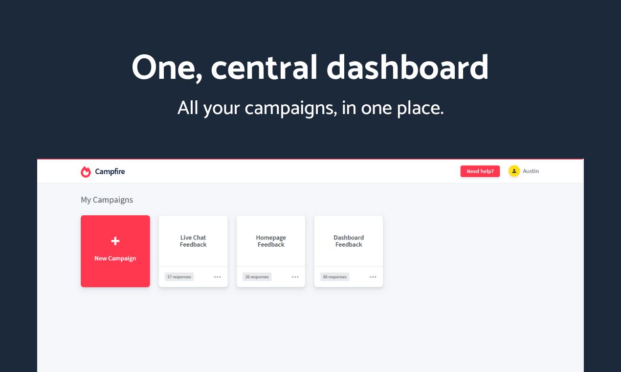 Campfire - Advanced user feedback platform - 3