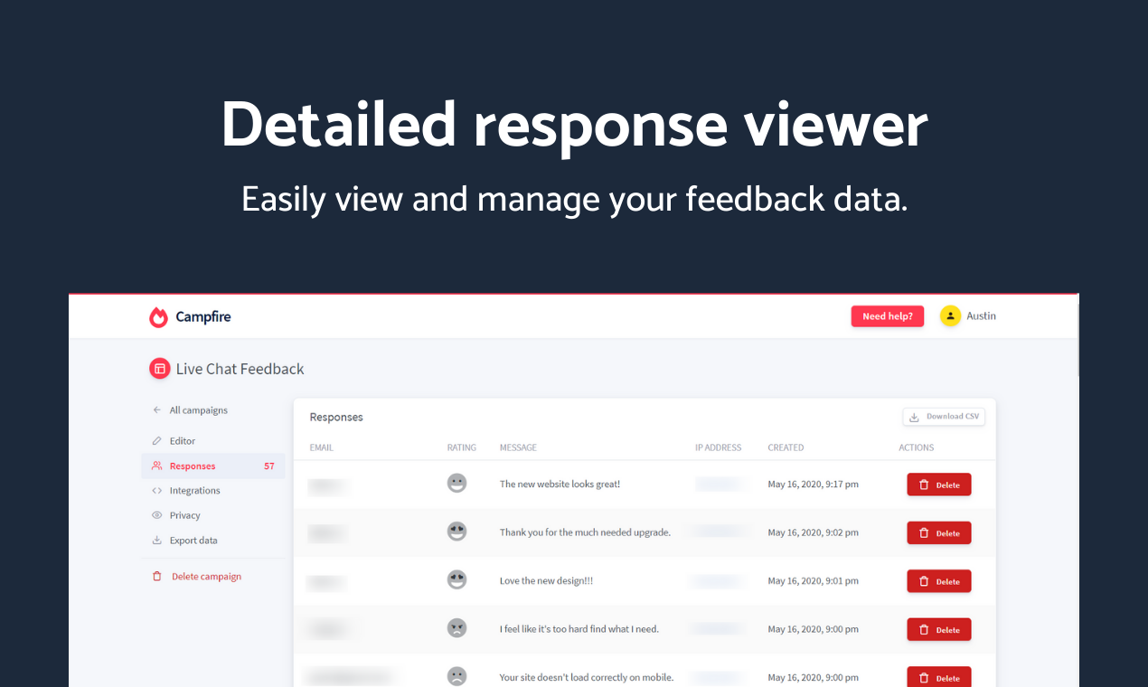 Campfire - Advanced user feedback platform - 5