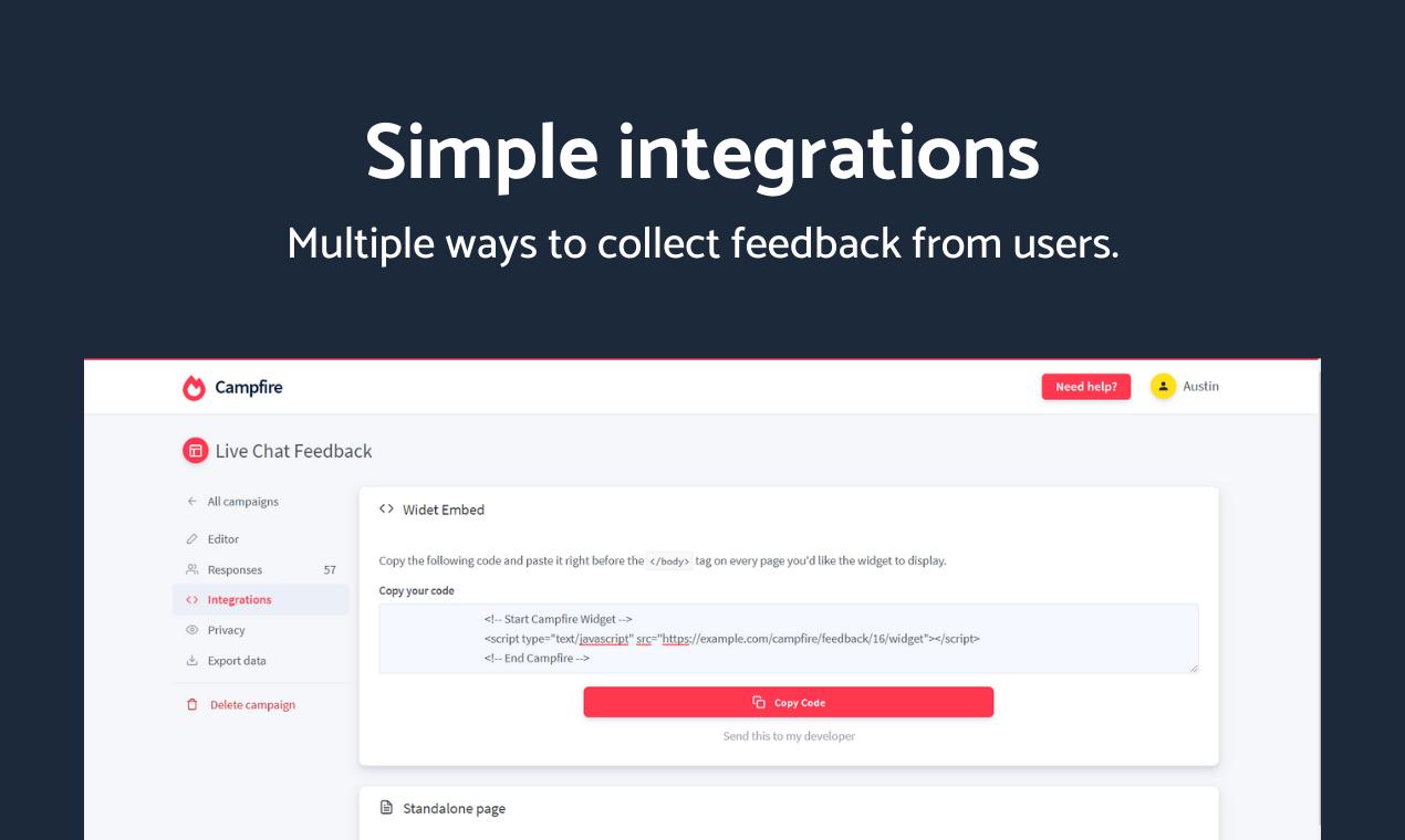 Campfire - Advanced user feedback platform - 6