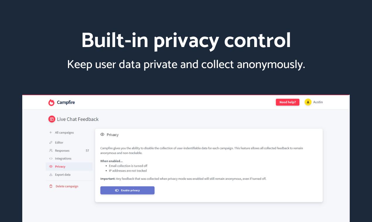 Campfire - Advanced user feedback platform - 7
