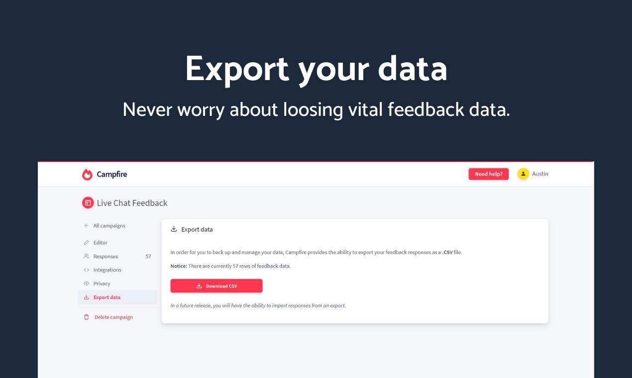 Campfire - Advanced user feedback platform - 8
